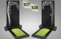 Вертикальные памятники с гравировкой №107 и №108