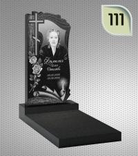Вертикальный памятник с гравировкой №111