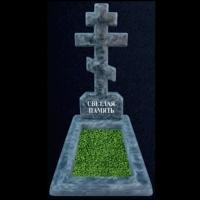 Памятник на могилу с крестом, мраморная крошка 12k/6