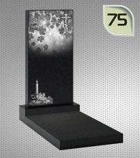 Вертикальный памятник с гравировкой №75