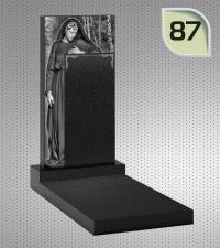 Вертикальный памятник с гравировкой №87