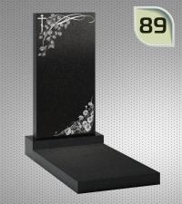 Вертикальный памятник с гравировкой №89