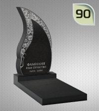 Вертикальный памятник с гравировкой №90