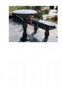 Стол и скамейка из гранита