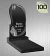 Вертикальный памятник с гравировкой №100