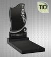 Вертикальный памятник с гравировкой №110