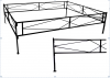 Ограда металлическая №1