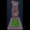 Памятник из мраморной крошки с крестом 31k/33