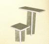 Стол и скамейка из мраморной крошки